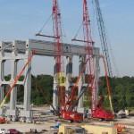 Новый козловой кран грузоподъемностью 5100 тонн