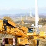 Liebherr LTR 11200 задействуют в строительстве ветровой электростанции