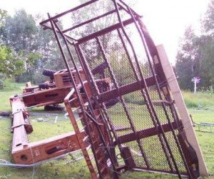 Происшествие с телескопическим погрузчиком