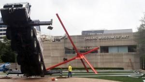 В Далласе перевернулся кран Grove